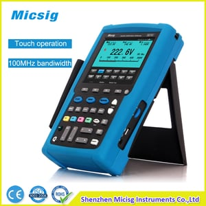 100mhz Isolated Channel Digital Handheld Oscilloscope With Multimeter