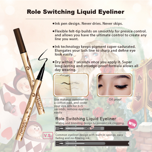 Role Switching Liquid Eyeliner