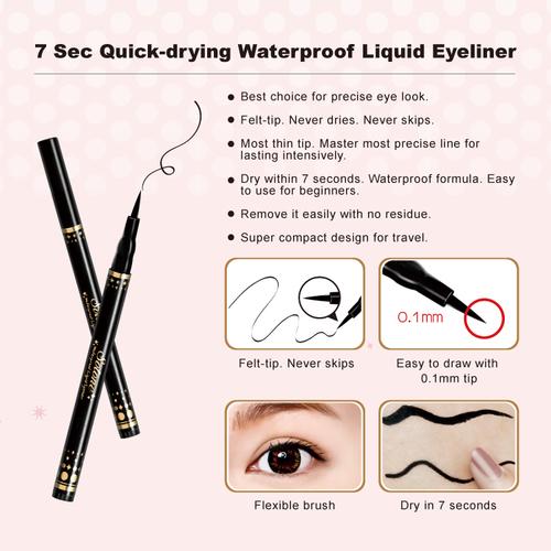 7 Sec Quick-drying Waterproof Liquid Eyeliner