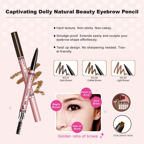 Captivating Dolly Natural Beauty Eyebrow Pencil