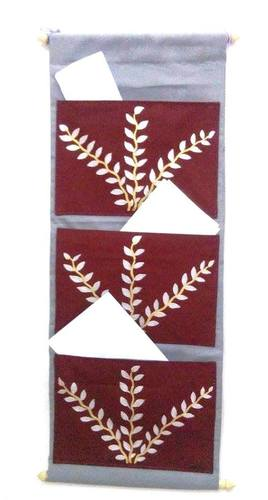 Hand-Painted Wall Hanging Document Organizer