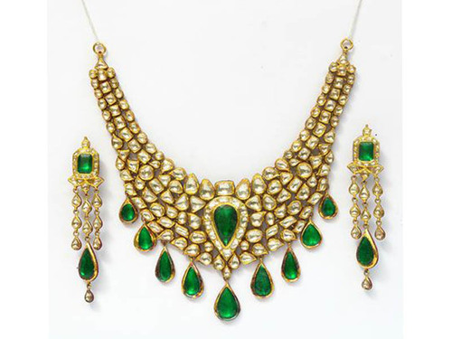 Kundan And Polki Gold Necklace Set in  Greater Kailash - Ii