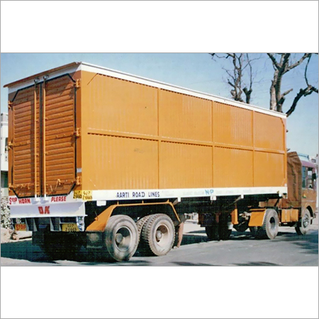 Wheels Dry Container Truck in   Near IOC Petrol Pump
