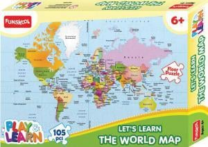 P and l World Map Puzzle