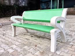 RCC Precast Concrete Cement Back Rest Chair Bench