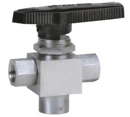 Switching Service Ball Valve Three Way Bottom Inlet Screwed Ends