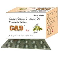 Calcium Citrate and Vitamin D3 Chewable Tablet