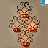 ExclusiveLane Wall Scone With 4 Tea Lights Holders
