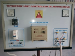 Thyristor and IGBT Controlled DC Motor Drive