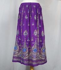 Embroidered Rayon Peacock Skirt