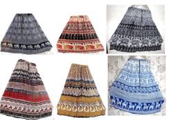 Hippy Gypsy Boh Bonhomie Long Skirt