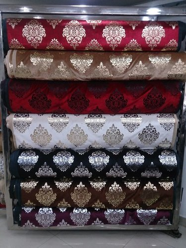 Foil Printing Velvet Cloth For Sofa And Curtains In New
