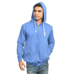 Mens Blue Zipper Hoodies