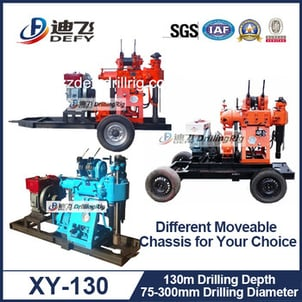 130m Water Well Borehole Drilling Machine