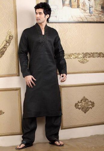 Pathani Stylish Black Kurta