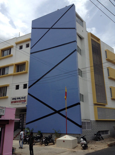 Front Elevation Acp Work : Acp front side elevation in gotri vdr vadodara