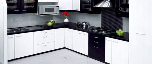 Black Shaped Indian Modular Kitchen At Best Price In Ghaziabad Uttar Pradesh Gd Interior Solution