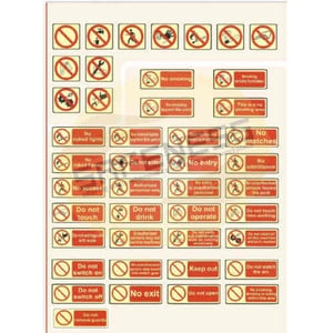 Prohibition Safety Signs \\011