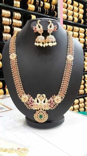 Gold Stone Covering Necklace Sets