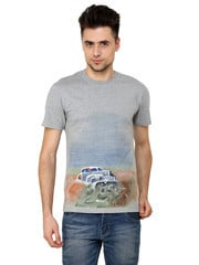 Hand Painted Vintage Car Grey T Shirts
