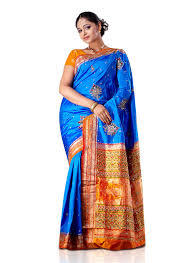 Double Color Designer Silk Sarees