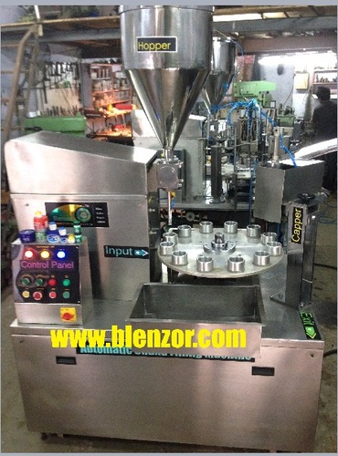 Rotary Lotion Jar Filling Machine