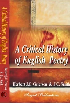 A Critical History Of English Poetry Book