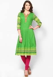 Ladies Green Kurtis