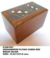 Wooden Playing Cards Boxes