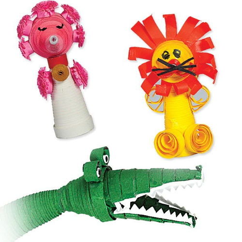 Paper Quilling - Finger Puppets