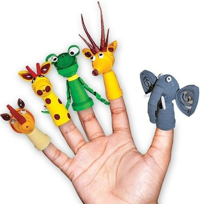 Paper Quilling Pencil Tops And Finger Puppets