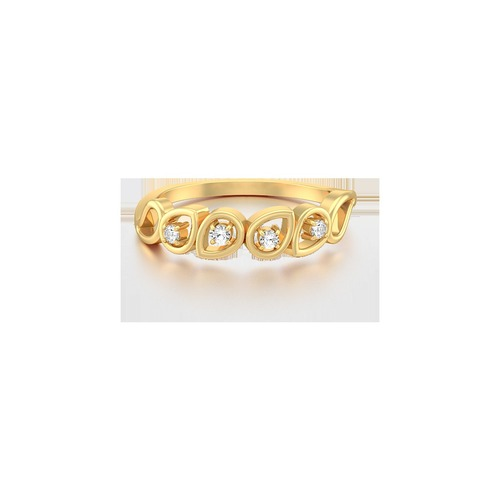18K Yellow Gold Ring With Diamonds in  Johari Bazar