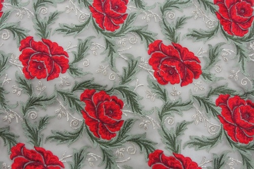Designer Floral Work Fabric