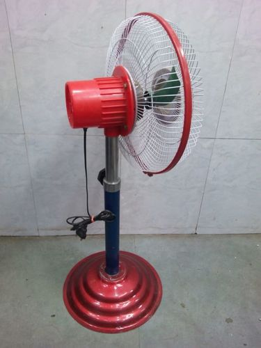 Electric Pedestal Red Stand Fan