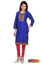 Ladies Blue Long Kurti