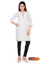Ladies Plain Shorts Kurti