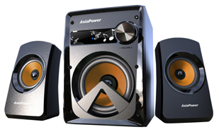 PowerSound 2100 2.1Ch Computer Multimedia Speakers