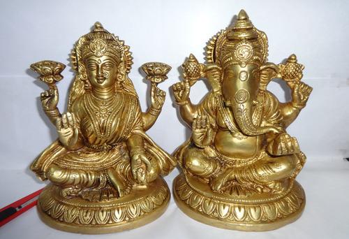 Metal Ganesha Laxmi Statue