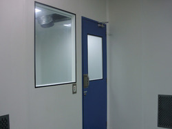 Clean Room Door And Double Glass Window