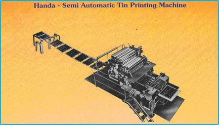 Semi Automatic Tin Printing Machine