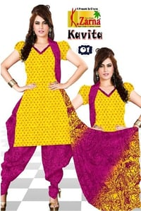 Kavita Printed Cotton Ladies Dress Material Fabrics