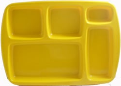 Melamine Yellow Partition Tray