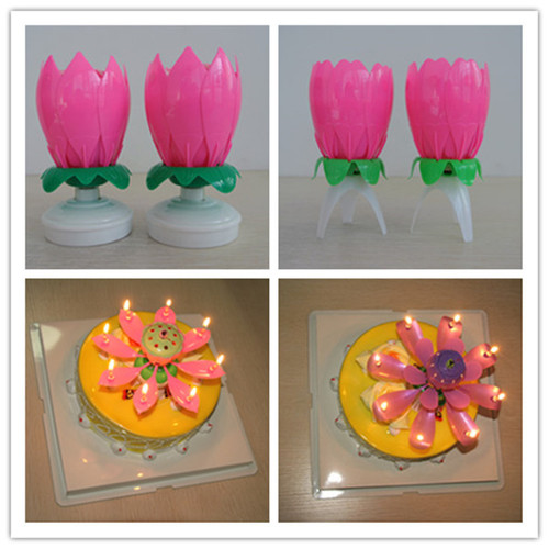 Flower Shape Musical Birthday Candle