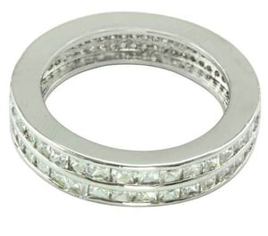 Dual Designer White Gold Plated Ring