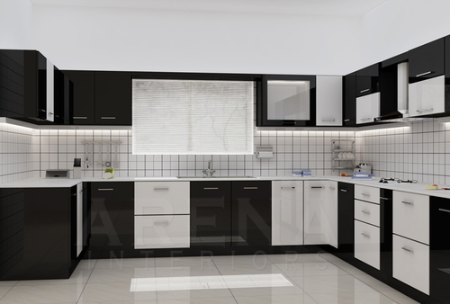 Modular Kitchen Black And White Interior At Best Price In Ghaziabad Uttar Pradesh Dnb Interiors