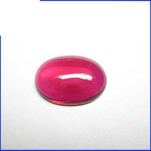 Oval Shape Flat Bottom Red Ruby Cabochon