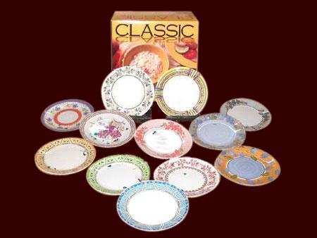 Melamine Ceramic Plates in  23-Sector