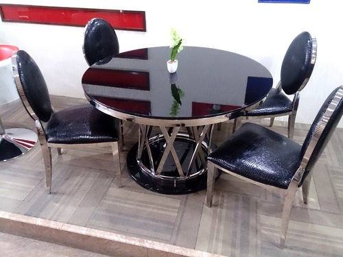 steel cafeteria and restaurant table chairs in new delhi delhi
