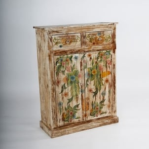 Wooden Painted 2 Doors and 2 Drawers Almirah