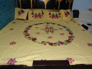 Hand Painting Bed Sheet